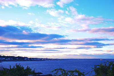 The Sunset In Portland Maine Print by Paul Ge