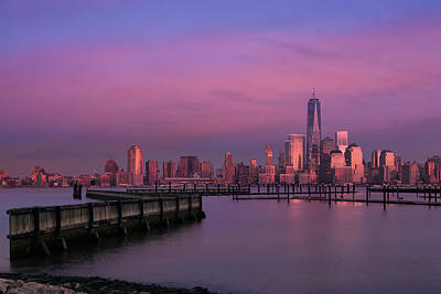 New York City Skyline Photograph - The Sunsets At One World Trade Center by Susan Candelario