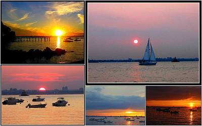 The Sunsets Of Long Island Print by Dora Sofia Caputo Photographic Art and Design