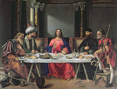 The Supper At Emmaus Print by Vittore Carpaccio