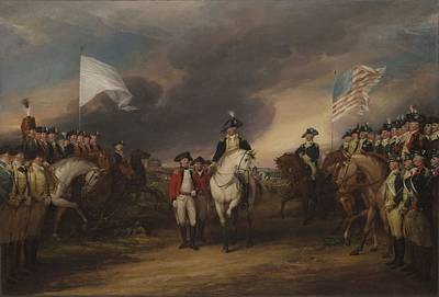 The Surrender Of Lord Cornwallis At Yorktown, October 19, 1781, 1787-c.1828 Oil On Canvas Print by John Trumbull