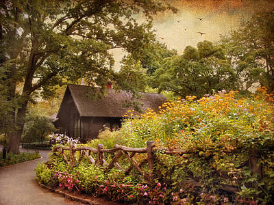 Charming Cottage Digital Art - The Swedish Cottage by Jessica Jenney