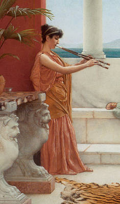 The Sweet Siesta Of A Summer Day Detail Print by John William Godward