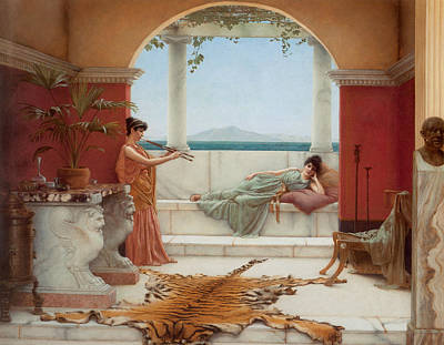 The Sweet Siesta Of A Summer Day Print by John William Godward