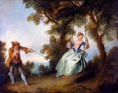 Swing Painting - The Swing, 1730 by Nicolas Lancret