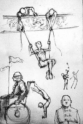 The Swing Print by H James Hoff