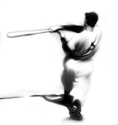 Baseball Art Drawing - The Swing   Joe Dimaggio by Iconic Images Art Gallery David Pucciarelli