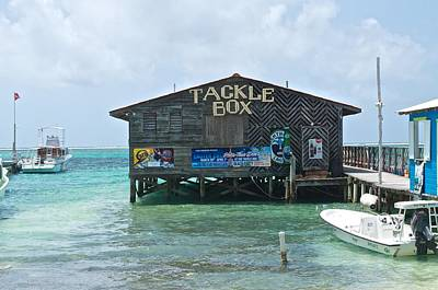 The Tackle Box Sign Print by Kristina Deane
