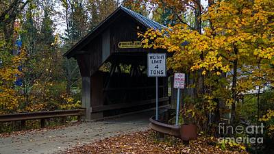 Taftsville Photograph - The Taftsville Covered Bridge.   by New England Photography