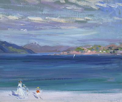 Scottish Colourist Painting - The Tail Of Mull From Iona by Francis Campbell Boileau Cadell
