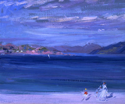 Scottish Colourist Painting - The Tale Of Mull From Iona by Francis Campbell Boileau Cadell