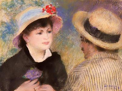 Flirtation Painting - The Talk by Mountain Dreams