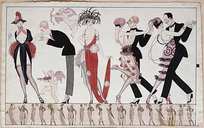 Ties Painting - The Tango by Georges Barbier