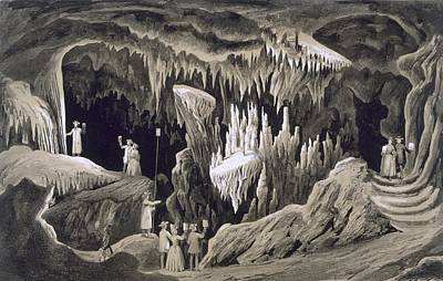 Cavern Drawing - The Tapestry Room, Weyers Cave, Augusta by Edward Beyer