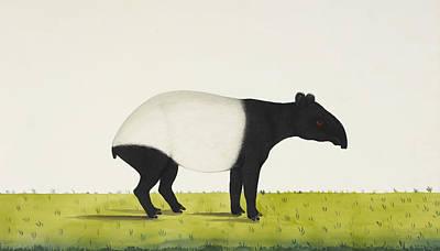 Snout Digital Art - The Tapir by Aged Pixel