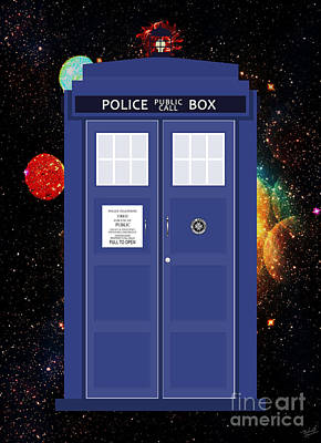 Companion Digital Art - The Tardis by Nishanth Gopinathan