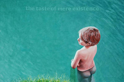 The Taste Of Mere Existence Print by Allan OMarra