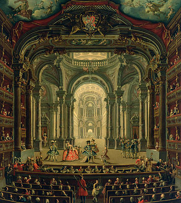Performance Painting - The Teatro Reale In Turin by Pietro Domenico Oliviero