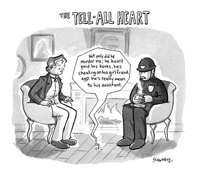 The Tell-all Heart Print by Benjamin Schwartz