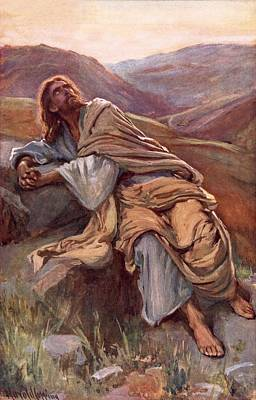 The Temptation Of Christ Print by Harold Copping