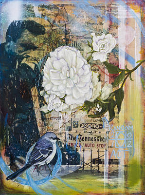 Mockingbird Painting - The Tennessean by Andrea LaHue aka Random Act