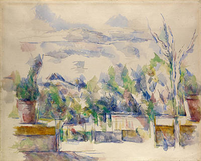 Paul Cezanne Painting - The Terrace At The Garden At Les Lauves by Paul Cezanne