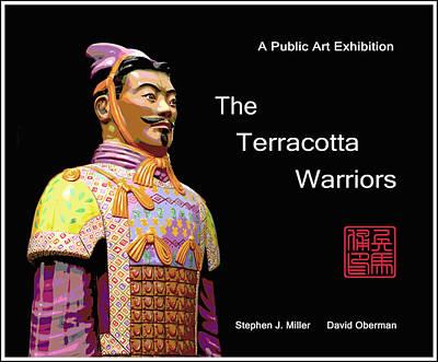 Terra Cotta Soldiers Digital Art - The Terracotta Warriors Book Cover by David Oberman