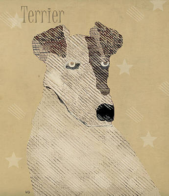 Colourfull Painting - The Terrier Dog  by Bri B