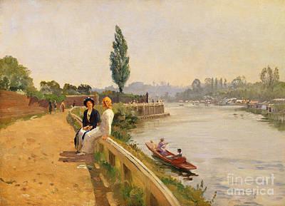 The Thames At Hampton Court Print by John Arthur Black