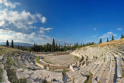 The Theatre Of Dionysos - Greece Print by Constantinos Iliopoulos