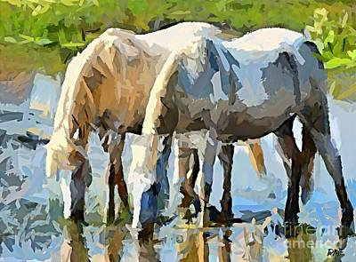 Animal Painting - The Thirst by Dragica  Micki Fortuna