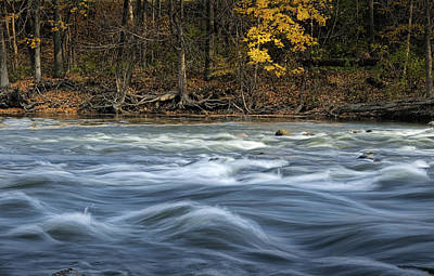 Raging Photograph - The Thornapple River In October by Randall Nyhof