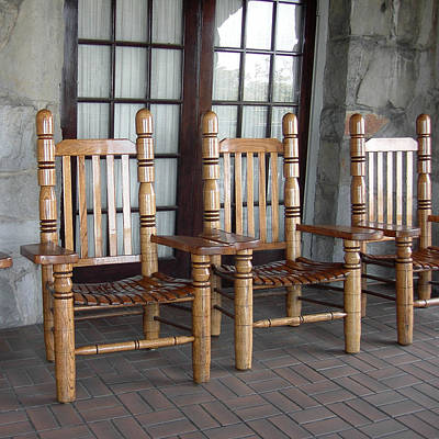 Ladder Back Chairs Photograph - The Three Chairs by Denyse Duhaime