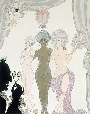 The Three Graces Print by Georges Barbier