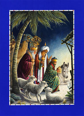 Painting - The Three Kings by Lynn Bywaters