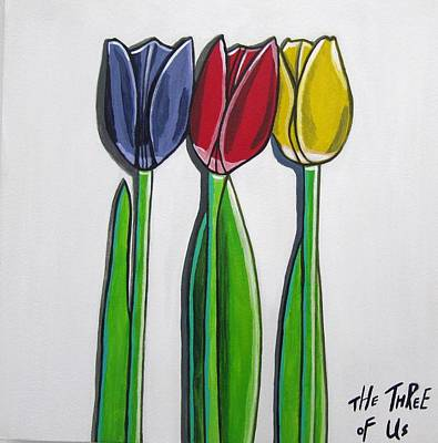 The Three Of Us Print by Sandra Marie Adams