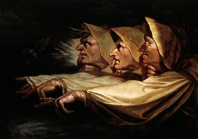 Literature Painting - The Three Witches by Henry Fuseli
