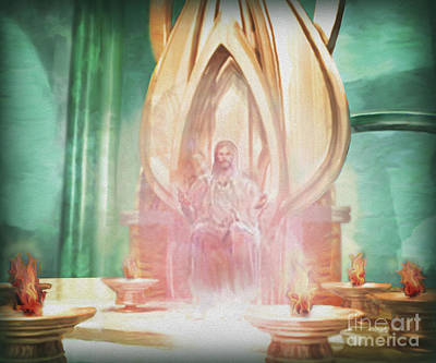 Throne Room Digital Art - The Throne Of Grace by Todd L Thomas