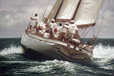J Boat Painting - The Ticonderoga by Julia O'Malley-Keyes