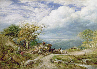 The Timber Wagon Print by John Linnell