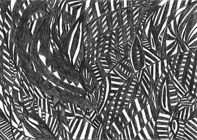 Abstract Movement Drawing - The Time Machine by Rowan Van Den Akker