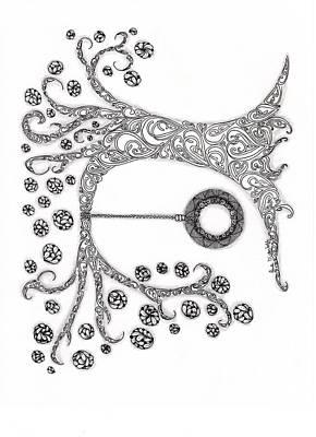 Paisley Drawing - The Tire Swimg by Paula Dickerhoff