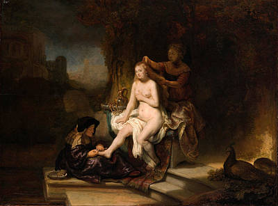 Bathsheba Painting - The Toilet Of Bathsheba by Rembrandt