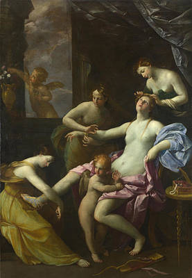 Guido Reni Painting - The Toilet Of Venus by Studio of Guido Reni