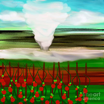The Tomatoes And The Tornado Print by Andee Design