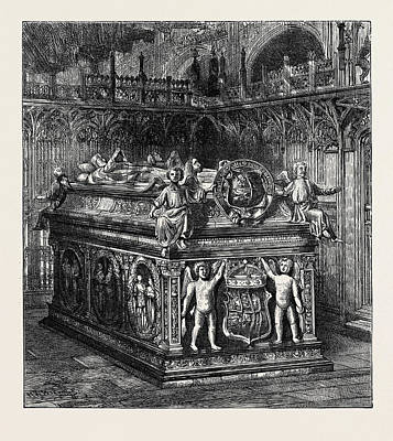 Westminster Abbey Drawing - The Tomb Of Henry Vii by English School