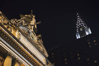 The Top Of Grand Central Station Print by Kate Williams