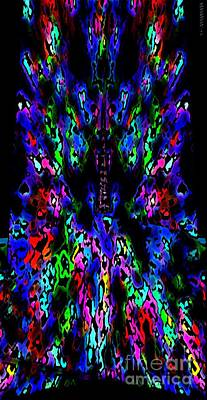 Vertical Digital Art - The Tower In Abstract Art by Mario Perez