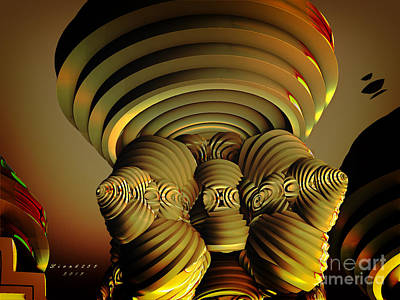 Digital Digital Art - The Towers by Melissa Messick