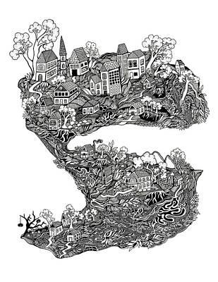 The Town Print by Jody Pham